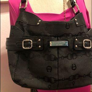 Ettiene  Aigner Black monogram purse